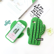 Personal creative cactus silicone soft case for iPhone6 6s / 6plus / 7 / 7plus protection mobile phone shell anti-drop fashion t