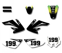 Power New Style TEAM GRAPHICS&BACKGROUNDS DECAL STICKERS Kits For Honda CRF70 CRF 70 2004 - 2010 2005 2006 2007 2008 2009(China)