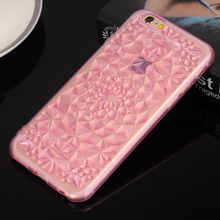 Luxury 3D Glitter Diamond Sun Flower Jewelry Soft TPU Back Cover Case for iPhone 5 5s 6s 6 Plus Phone Cases Fundas