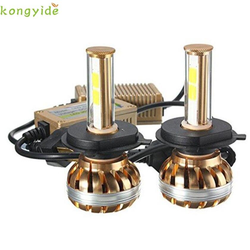 High Quality NEW H4 120W CREECHIPS  LED Headlight Kit 6000K White Car Bulb Lamp Light<br>