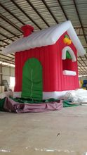 free shipping new inflatable Christmas house santa clause wonderful for Christmas day decoration