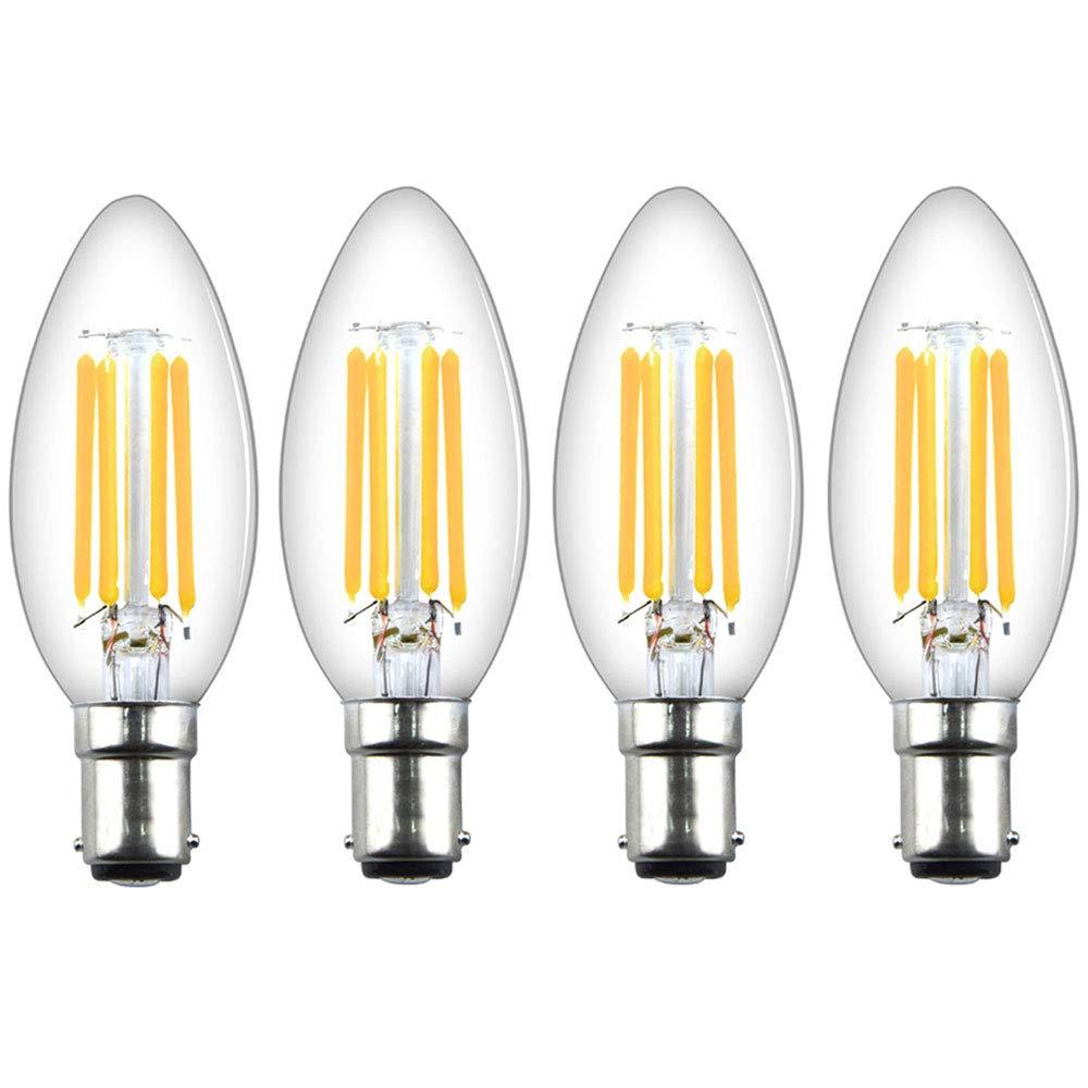 LED Filament Light Bulb B15 G45 Small Bayonet Cap Warm White 4W Set 2x 6x 10x