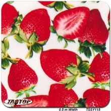 iTAATOP TSSY115 New 0.5m *10m red strawberry design PVA film Water Transfer Printing Film hydro graphics film(China)