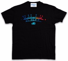 Summer Short Sleeves Fashiont Men T-Shirt Summer Style DB Meter II Decibel Music Bass Retro Radio Cassette Tape Record  T shirt