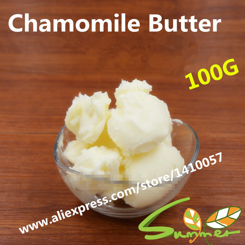 100G /bag Chamomile Butter Pure Essential Oil / Chamomile Butter 100g DIY Skin Care Product Lip Stick Soap Raw Materials<br><br>Aliexpress