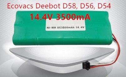 Ecovacs deebot Vacuum Battery 3500mAh 14.4V for Ecovacs Deebot D54 Deepoo D56 D58 Deepoo 540 550 560  570 580 Free Shipping<br>