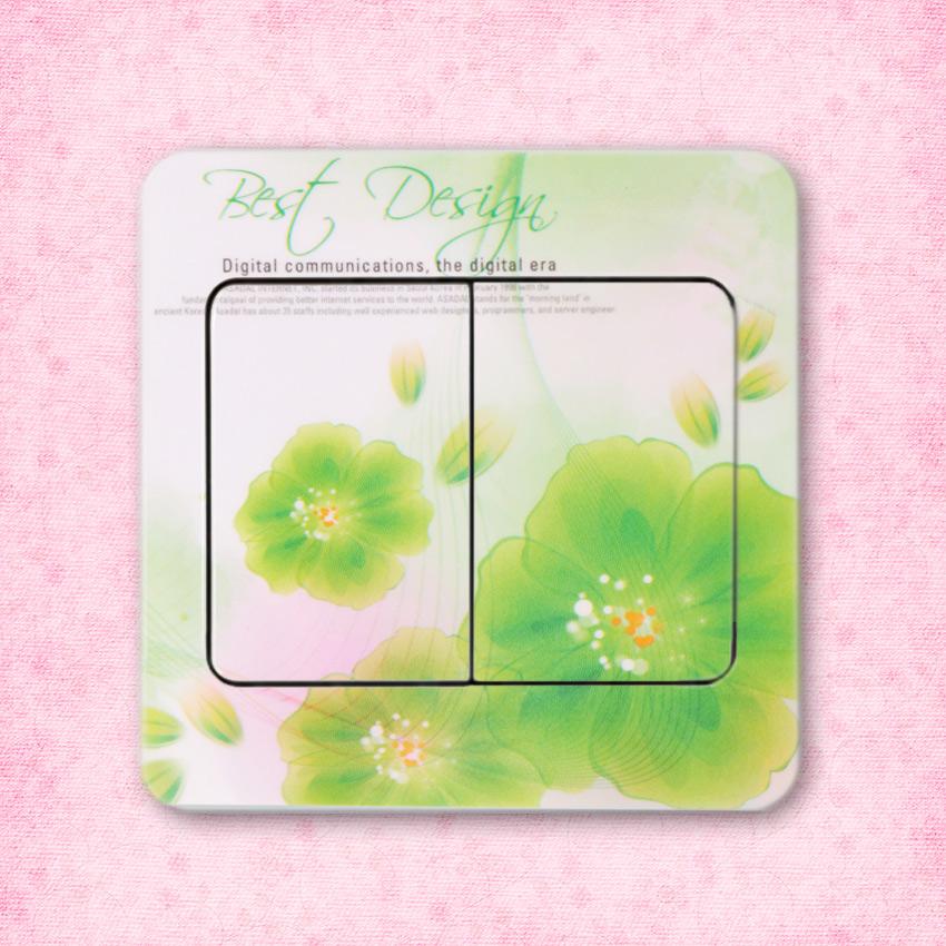HTB1CR pkLMTUeJjSZFKq6ygopXaw - 10 PCS High Quality Flower Series PVC Switch Stickers