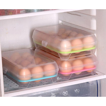 1pcs Kitchen Egg Storage Box Organizer Refrigerator Storing 15 Eggs Organizer Bins Outdoor Portable Container Storage Egg Boxes