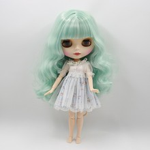 Fortune Days Nude Blyth doll Mint hair JOINT body Frosted skin Factory Blyth