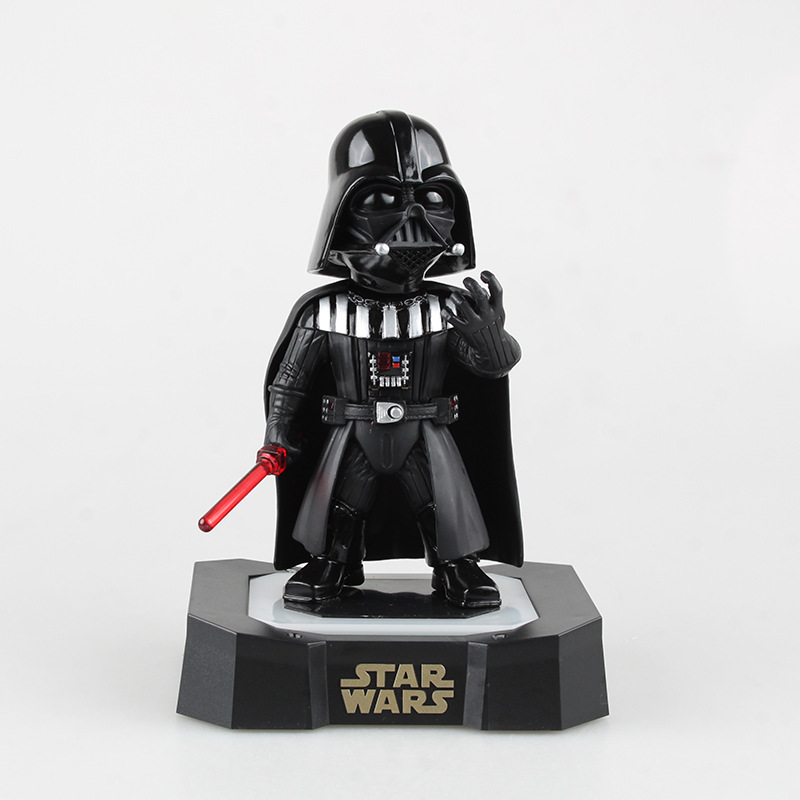 1pc 19cm Star Wars 7 Darth Vader Flashing and Sound PVC Model Furnishing Articles Garage Kits Collector Toy Gifts<br>