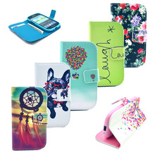 Lovely Cartoon Flower Flip Wallet PU Leather Stand Case Cover For Samsung Galaxy S3 SII mini i8190 8190, free shipping