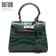 Mini bags crocodile designer handbags high quality woman bags 2016 bag handbag fashion handbags small bag Black bolsa feminina