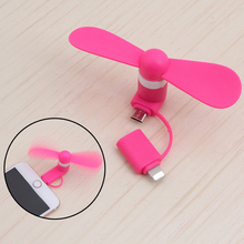 Mini Cool Micro USB Fan Mobile Phone USB Gadget Fans Tester For Apple iphone 5 5s 6 6s 7 plus HTC OPPO VIVO Meizu HTC LG usbfan(China)