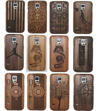 2017 Hot Engraved S5 Neo S8 Natural camera compass Wood Bamboo Hard Case Back Cover For Samsung S5 i9600 S5 Neo S7 S8 S8 PLUS(China)