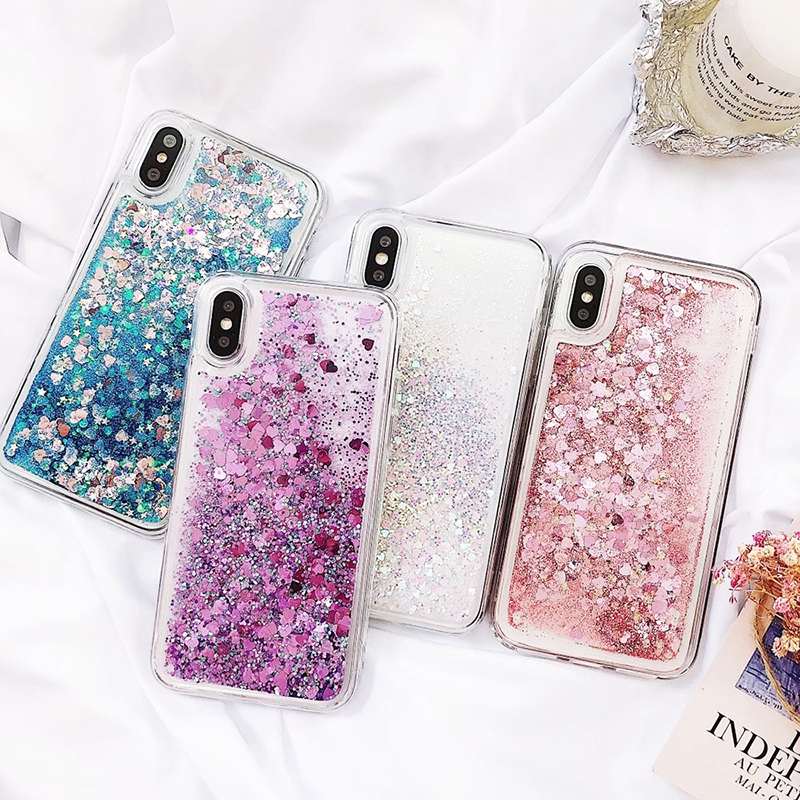Soft Glitter Dynamic Liquid Quicksand Case for iPhone X Cases 5S SE 6S Plus for iPhone 7 Cover 8 Plus Silicon Case For iPhone 8 (1)