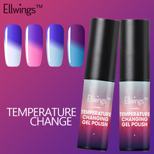 Ellwings Hybrid Temperature Changing Color Nail Gel Polish Soak Off Gel Lacquer Chamelon Color Changing Gel Varnish