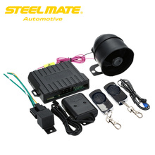 Steelmate 838N 1Way Car Alarm System Control Central Locking&Auto Window Closer Anti-hijacking Remote Trunk Release Code Grabber
