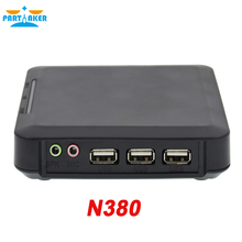 N380 WIN.CE 6.0 thin clients wtih 3 USB ports ARM11 800MHz 128M RAM 128M Flash turn one into 100 users or more black color(China)