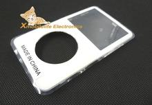White Plastic Front Faceplate Fascia Housing Case Cover Shell with Clear Lens Window for iPod 5th 5.5th Gen Video 30GB 60GB 80GB