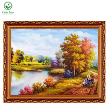 2017 NEW DIY 3D Diamond Painting The country road Serene Life household decoration Mosaic Embroidery Jacquard fabric Handicraft(China)