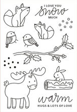 Forest Animal Stamp Clear For Scrapbooking Transparent Silicone Rubber DIY Photo Album Decor H61