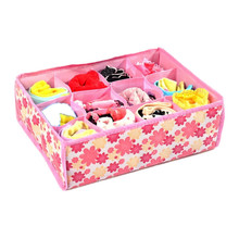Multifunctional Home Storage Underwear Bra Organizers Foldable Storage Boxes For Socks Ties Lingerie Drawer Container Organiser