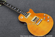 High quality Slash Signature lp guitar,tiger flame maple LP electric guitar,Solid mahogany LP slash guitaar,Free shipping(China)