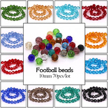 Mix Crystal Beads 70pcs/lot 10mm Glass Crystals Football Soccer Bead Costume Jewelery For Clothes Dress Crafts Decorations