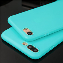 Ultra thin candy color phone cases for iphone 6 6s 6plus 6splus 7 7plus 8 8plus 5 SE 5s case silicone coque soft tpu back cover