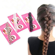 Fashion Bride Hair Accessories Roller Hair Styling Tools Weave Braid Hair Braider Tool Twist Bun Maker Hair Roller Accessories
