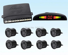 Car LED Display 8 Sensors Kit Reversing Radar System Parking Radar Buzzer System /parktronic 4 front Parking Sensors