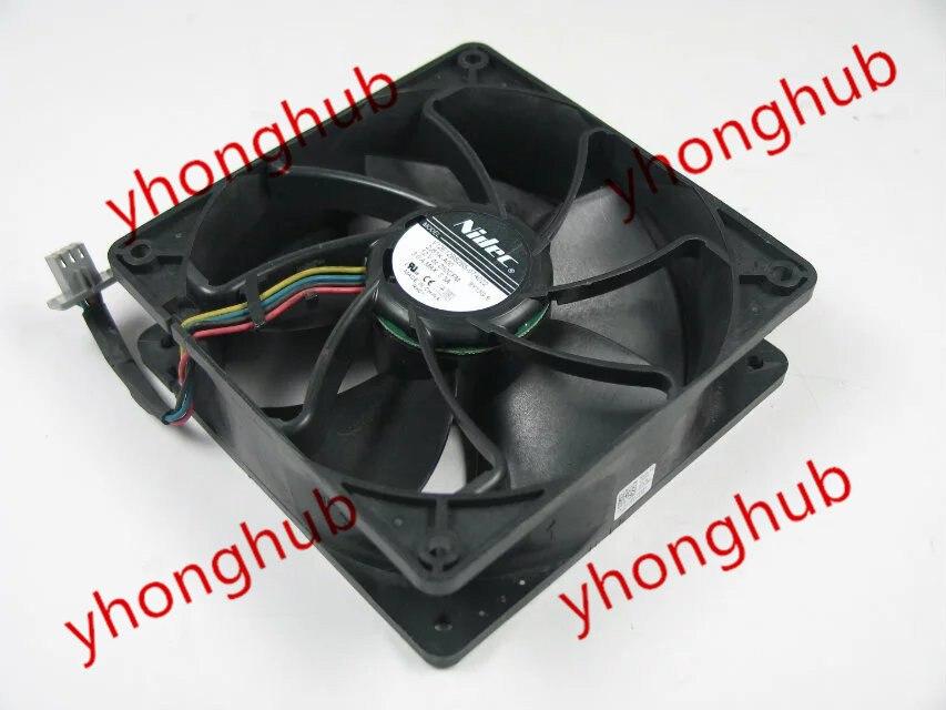 NIDEC V12E12BS2B5-07A022 DC 12V 3.0A  6-pin 120x120x38mm Server Square fan<br>