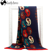 Ladybro 2016 High Quality Brand Bohemia Bandanna Scarf Women Elegant Warm Large Cotton Shawl Scarf Retro Print Pashmina Wrap