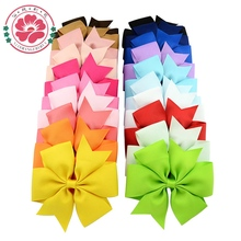 20pcs/lot Newly Design 4.5''  Boutique Hair Bow With Clip Big Bow Hairpins Hair Clips Kids Hair Accessories 624