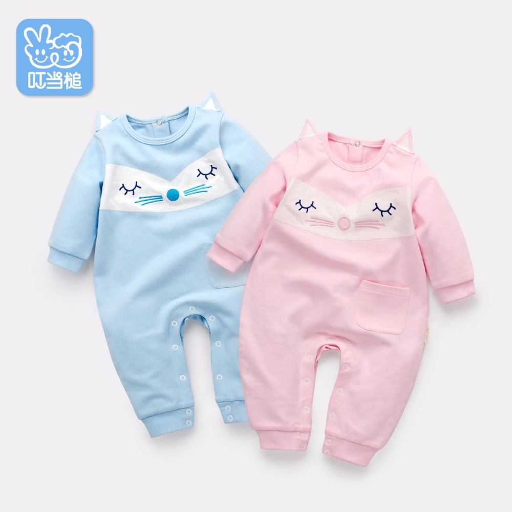 Dinstry babys jumpsuit spring autumn baby layette with the long sleeve  baby clothes 0-2 year old baby girls pajamas<br>