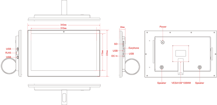 14 inch wth RJ45 product chart
