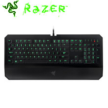 Razer Silm Mechanical Keyboard Deathstalker Gaming Ergonomics Keyboards 1000 HZ Green LED Backlit Fully Programmable For PC(China)