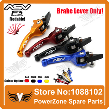 Alloy ASV F3 1st Short Brake Folding Lever Only Racing Motorcycle Pit Dirt Bike IRBIS KAYO GPX Pit Pro  Modify Free Shipping