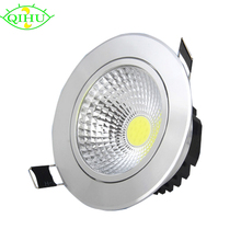 Highlight Recessed LED Downlight COB 3W LED Spot light Dimmable LED Decoration Ceiling Lamp AC 110V 220V 55mm hole
