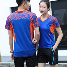 Free Printing New Badminton wear sets Men/Women's , sports badminton clothes ,Table Tennis sets, Tennis wear sets 1 set AY007(China)