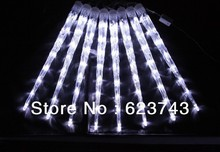 8pcs Free shipping 30CM double-sided LED Meteor light decorated christmas light LED Snow fall tube led rain tube led meteor tube