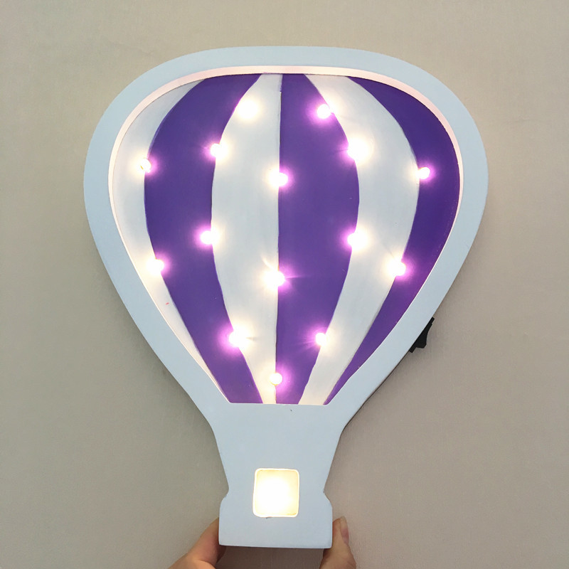 30CM Hot Air Balloon LED Night Light Baby Bedroom Sleeping Wall  Lamp Birthday Party Decoration Lamp As Kiss Gift<br>