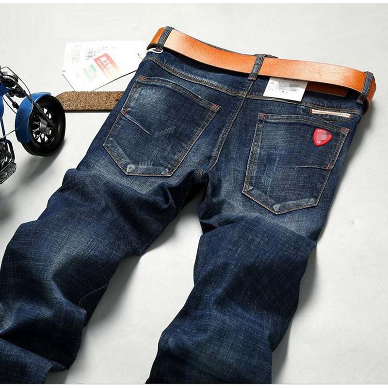 Fashion Mens Winter Straight Jeans Classic Denim Dieselers Trousers Fall Men Famous Brand Jeans Cotton Slim Elasticity BottomsÎäåæäà è àêñåññóàðû<br><br>