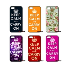 Keep calm and carry on Print For iPod Touch iPhone 4 4S 5 5S 5C SE 6 6S 7 Plus Samung Galaxy A3 A5 J3 J5 J7 2016 2017 Case Cover