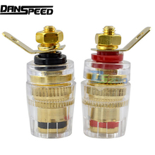 1 pair (2Pcs) Couple Amplifier Terminal Binding Post Banana Plug Speaker Plug Jack Connector
