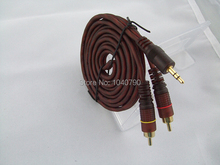 3.5 mm to Double lotus Audio line  Computer speakers line  Speakers sound line Audio signal cable 5M 16ft