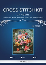 Free delivery Top Quality Lovely Counted Cross Stitch Kit Coral Peonies Peony Pink Flower Flowers dim 70-35298 35298 HH-30097(China)