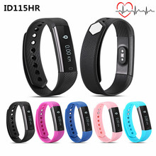 ID115 ID115HR Smart Bracelet Heart Rate monitor Fitness Tracker Step Counter Smart Wristband BT 4.0 Sport Sleep Monitor Track