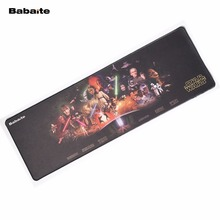Babaite Hot sale Mouse pad For Movies Star Wars Design Anti-slip Computer Mouse Pads Rubber Custom Mat Gaming Mouse keyboard mat