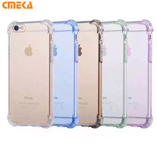 Crystal Clear Transparent Anti Knock Shock Soft TPU Gel Silicone Case For iPhone 7 6 6S Plus SE 5S 5 Back Mobile Phone Cases